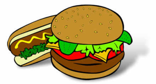 600x326 Burgers And Hotdogs Clipart