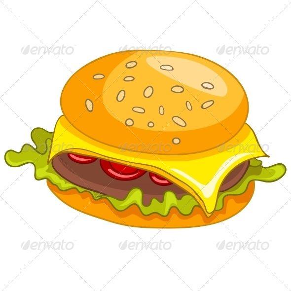 590x590 Cartoon Food Hamburger Art, Avatar, Beef, Bread, Bun, Burger