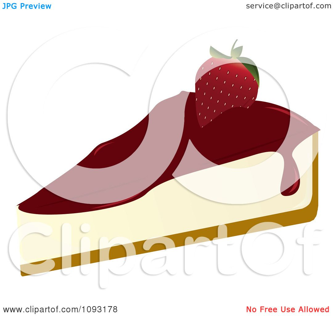 1080x1024 Clipart Serving Of Strawberry Cheesecake
