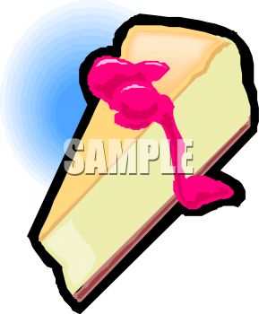 289x350 Royalty Free Clip Art Image Cheesecake With Cherry Sauce