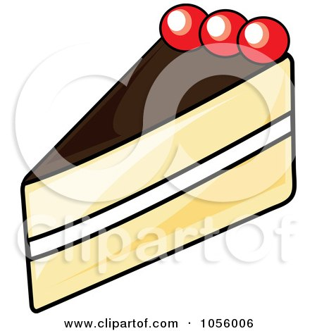 450x470 Royalty Free Vector Clip Art Illustration Of A Slice Of Cherry
