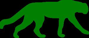 300x129 Green Cheetah Clip Art