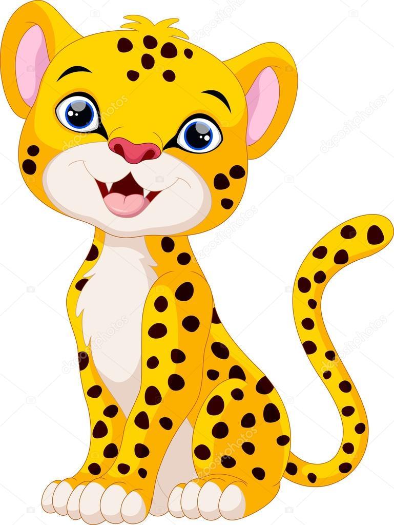 769x1023 Cartoon Baby Cheetah Group