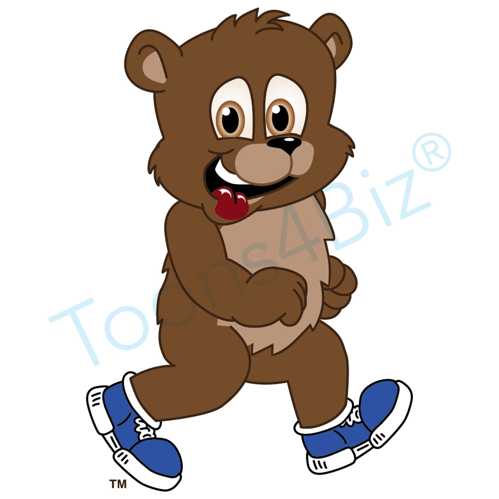 1000x1000 Bear Mascot With Tennis Shoes