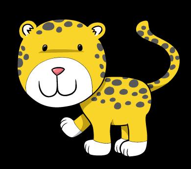 390x346 Smiling Cheetah Cub Wall Decal Wallmonkeys