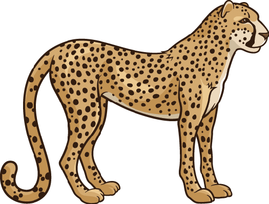 525x399 Cheetah Writing Cliparts