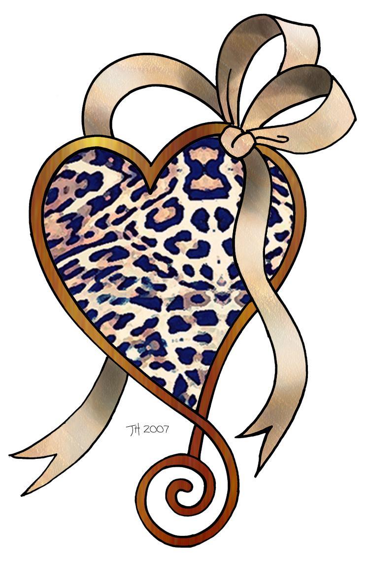 743x1137 Cheetah Print Heart Clip Art 3886031