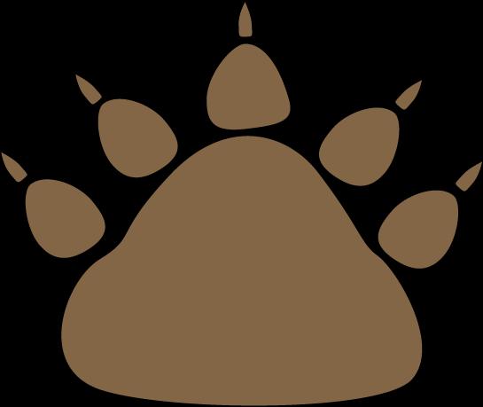 545x459 Leopard Paw Print Clip Art