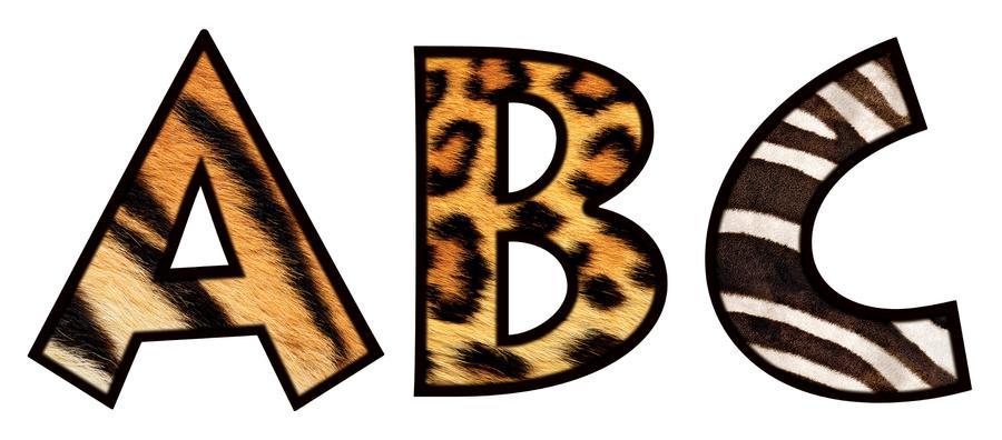 900x396 Printable Animal Print Letters 21874