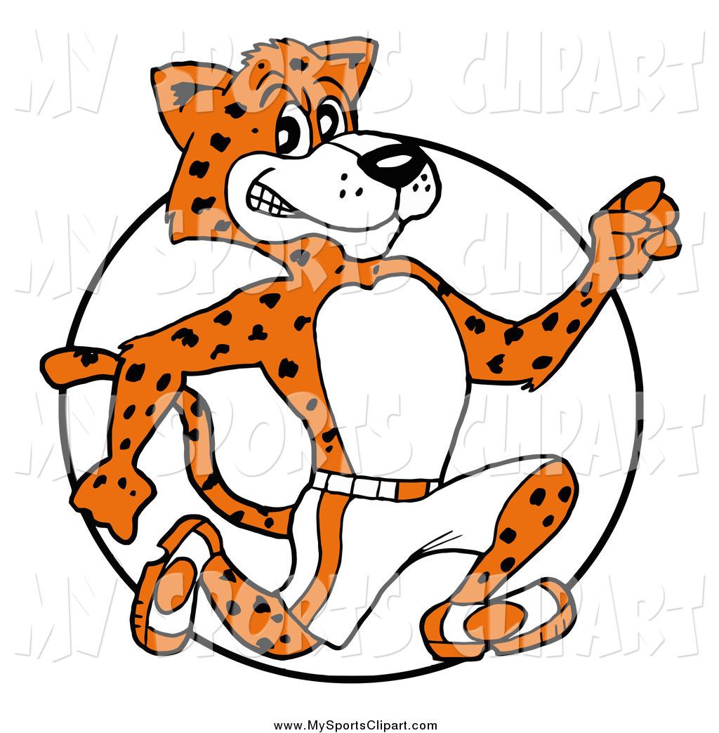 1024x1044 Sports Clip Art Of A Cartoon Athletic Cheetah Running In A Circle
