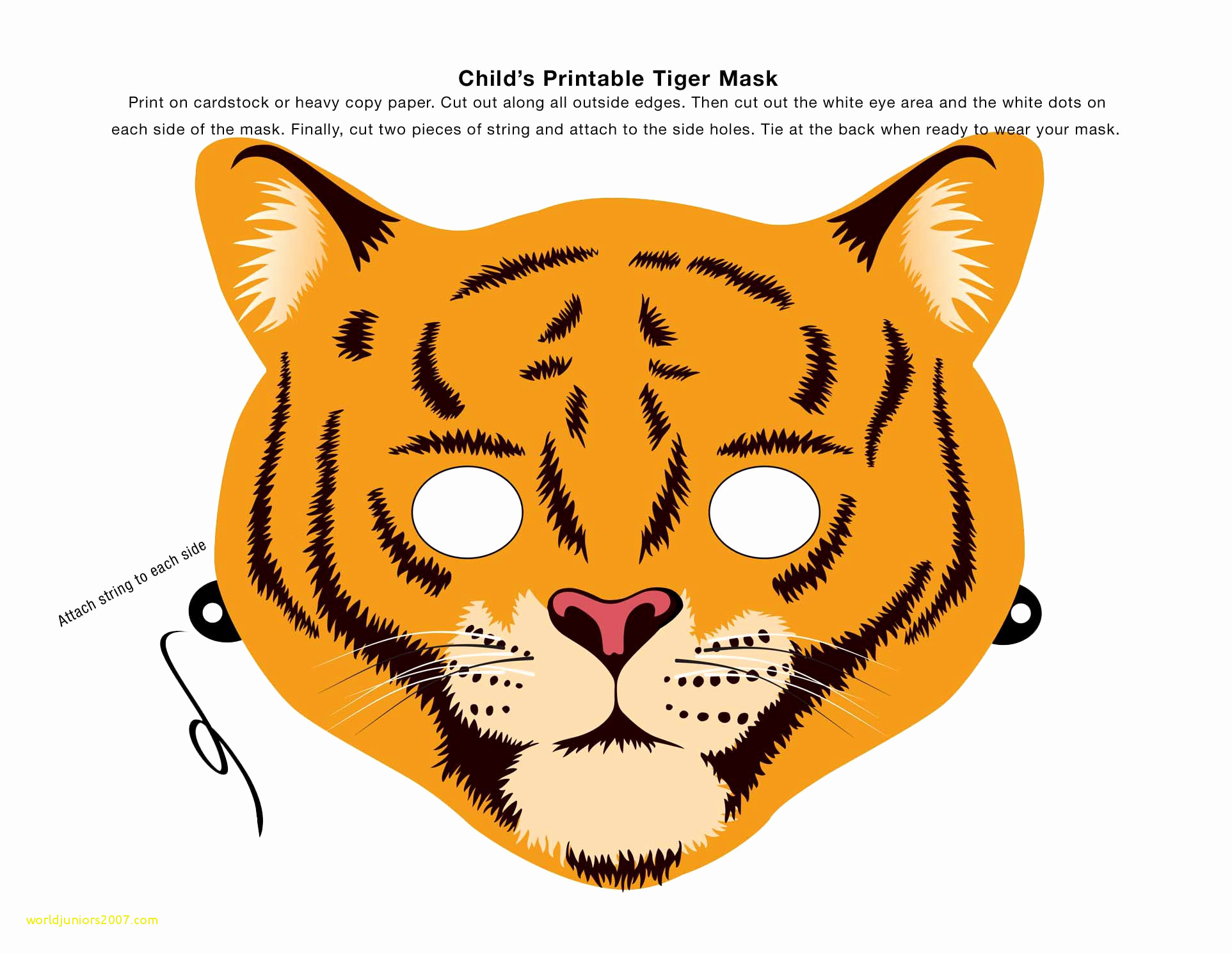 1925x1488 Top Result Cheetah Face Mask Template New Make An Animal Mask