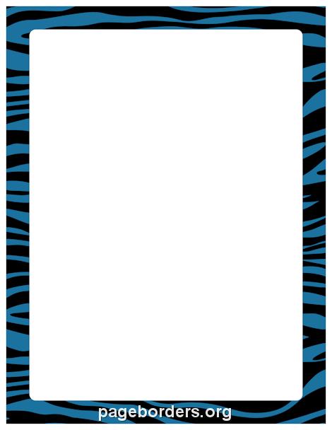 470x608 Zebra Print Border Clip Art