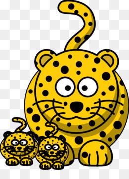 260x360 Cheetah Cougar Black Panther Jaguar Clip Art