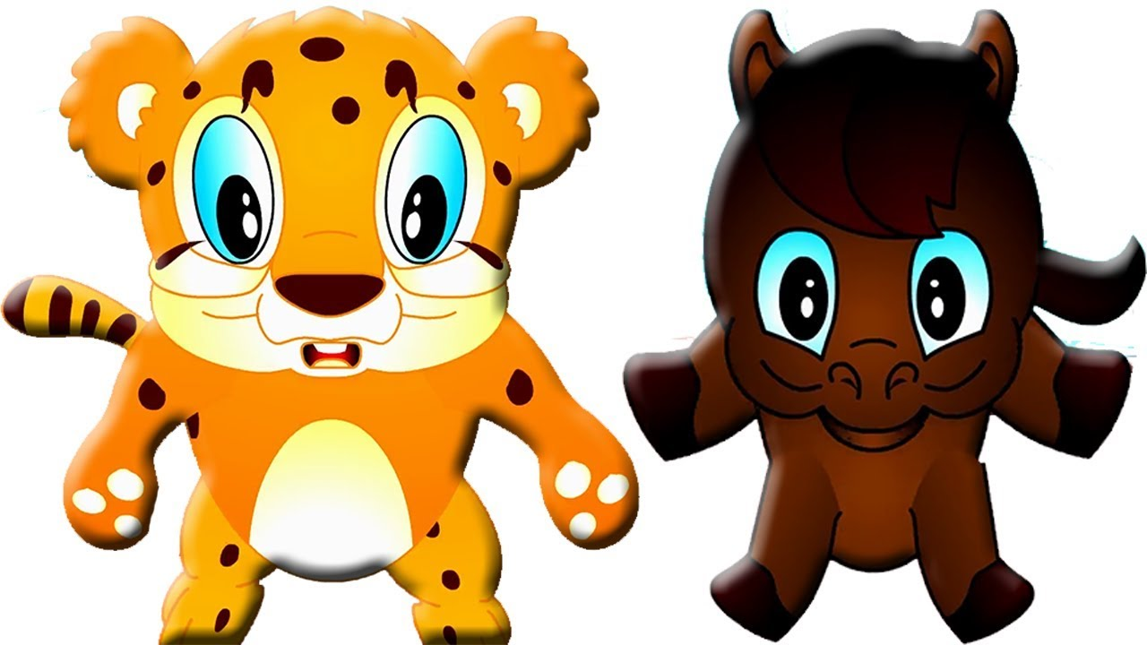 1280x720 Cheetah Vs Horse Running Race Cartoons For Children Animals