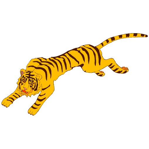 508x508 Collection Of Running Tiger Clipart High Quality, Free