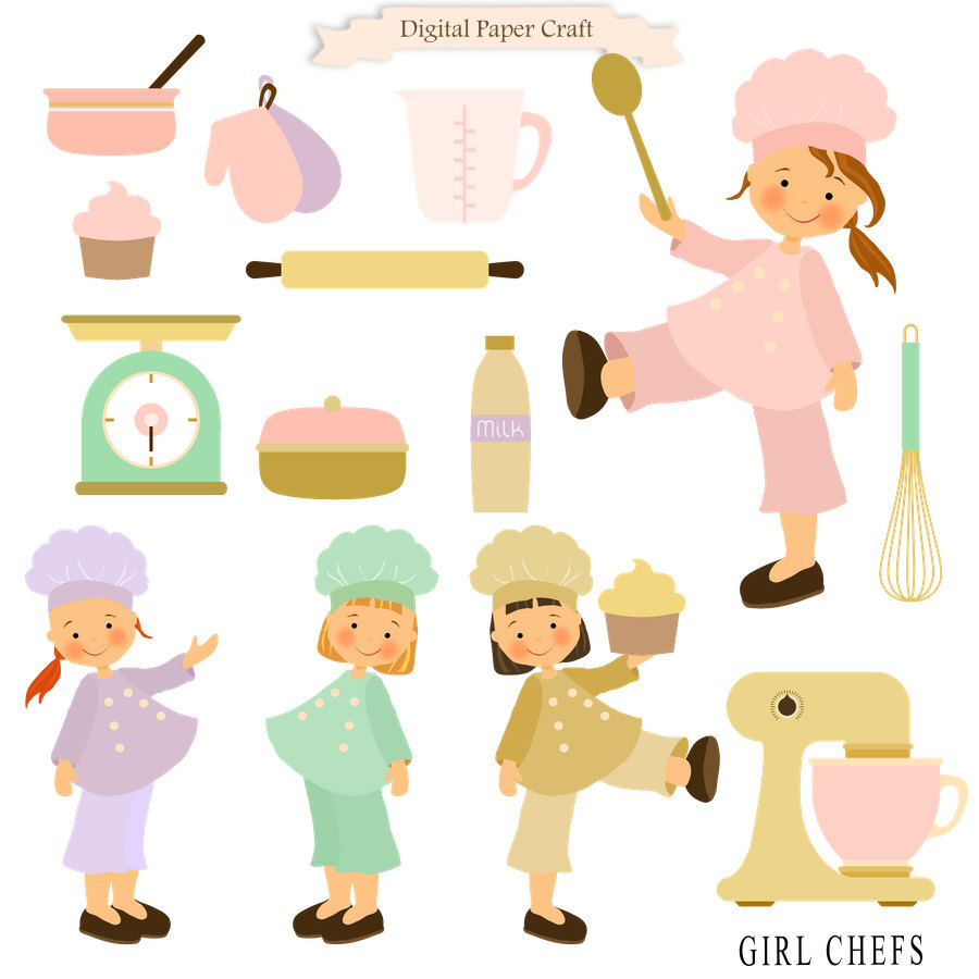 900x900 Cooking Clipart Girl Clipart Chef Clipart Kitchen Clipart
