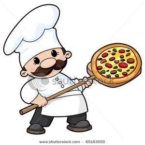 300x299 A Cute Chef With A Combination Pizza