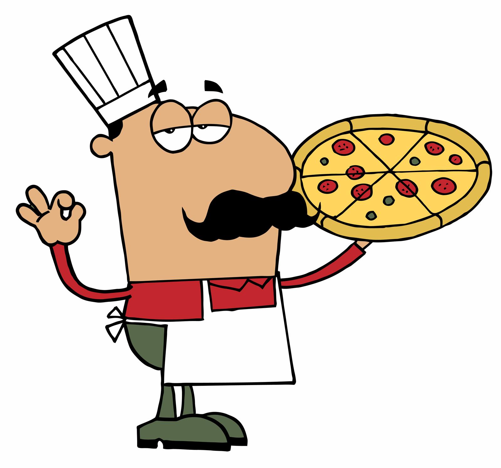 1600x1496 Pizza Chef Clipart