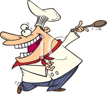 350x307 Royalty Free Clip Art Image Cartoon Of A Happy Chef Dancing