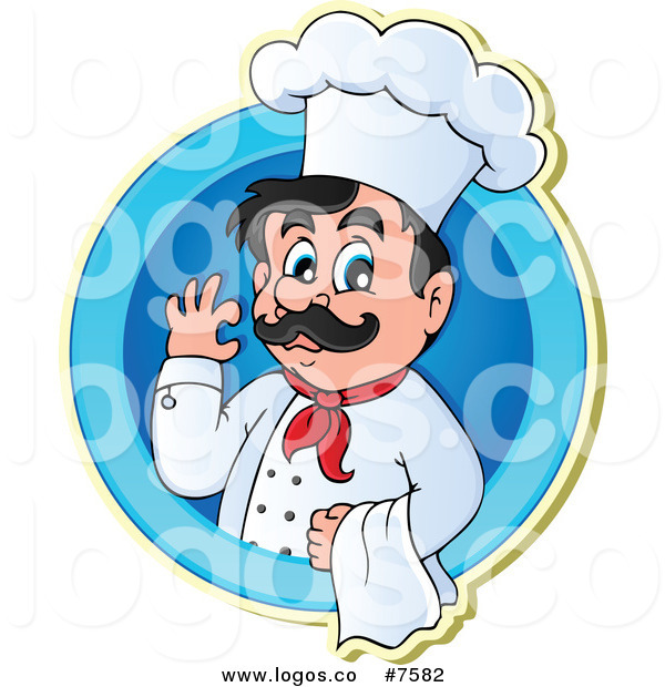 600x620 Royalty Free Clip Art Vector Logo Of A Male Chef Gesturing Ok
