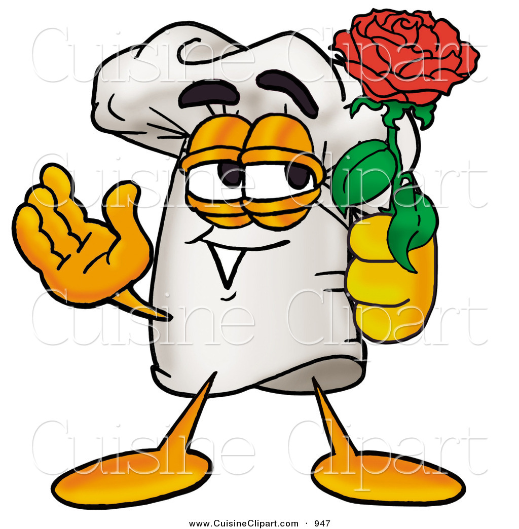 1024x1044 Cuisine Clipart Of A Romantic White Chefs Hat Mascot Cartoon