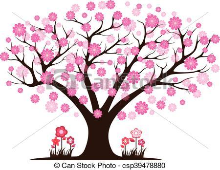 450x349 Decorative Beautiful Cherry Blossom Tree Vector