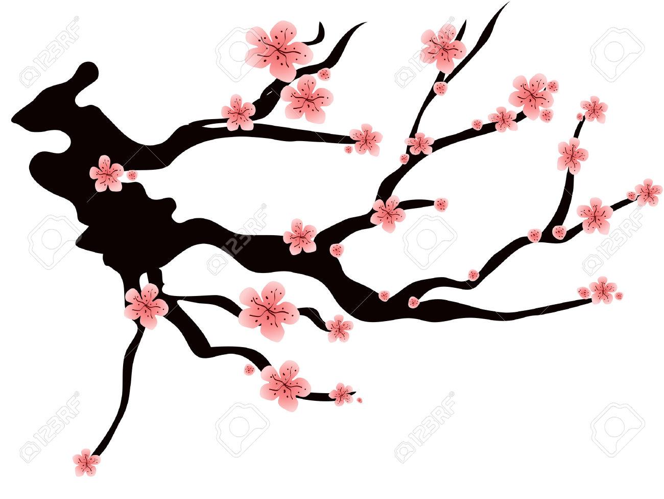 1300x976 Plum Blossom Clipart