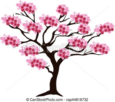 450x399 Vector Cherry Tree In Blossom Vectors