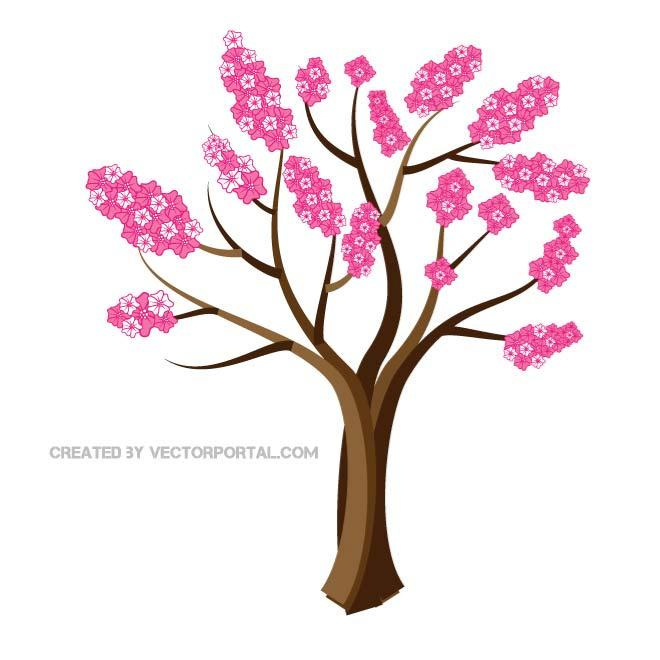 660x660 Cherry Blossom Tree Vector