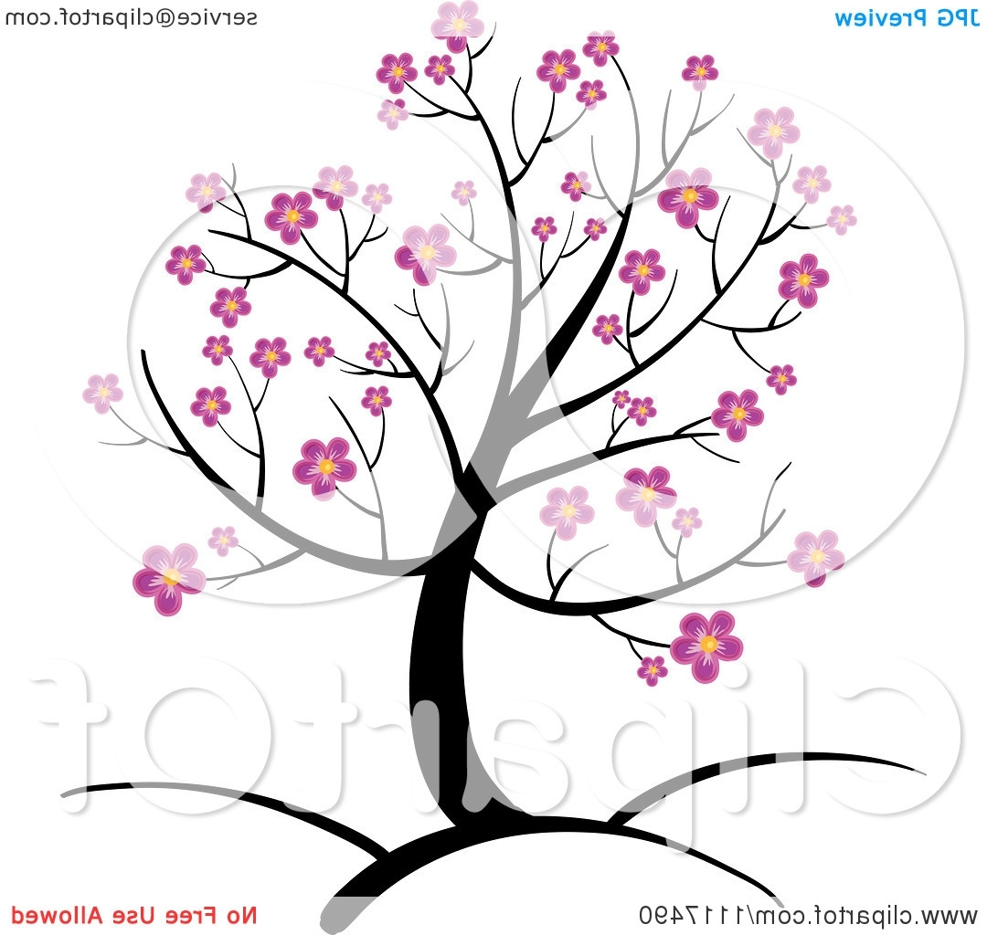 1080x1024 Cartoon Cherry Blossom Tree Vector Clipart Of A Spring Tree