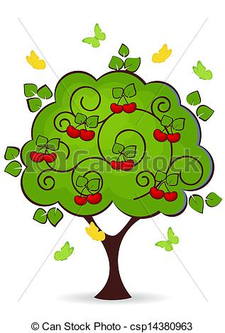 317x470 Cherry Tree Clipart