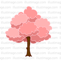 200x200 Free Scattering Cherry Blossom Frame Illustration