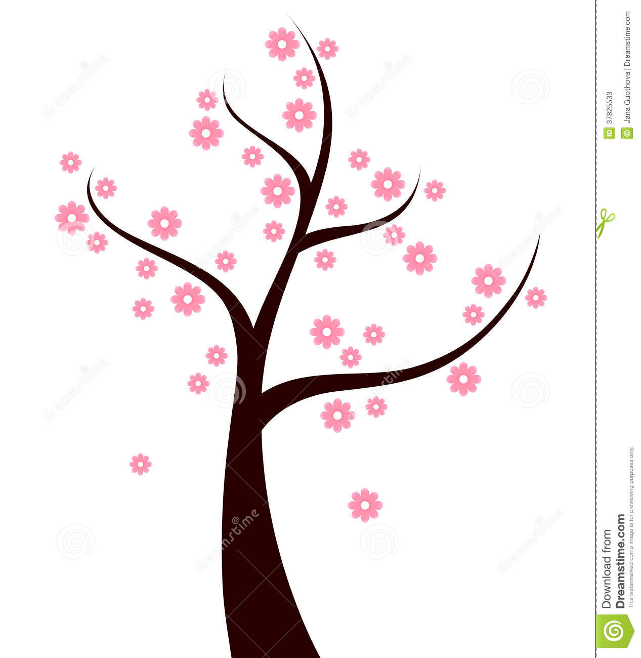 1267x1300 Pink Flower Clipart Flowering Tree