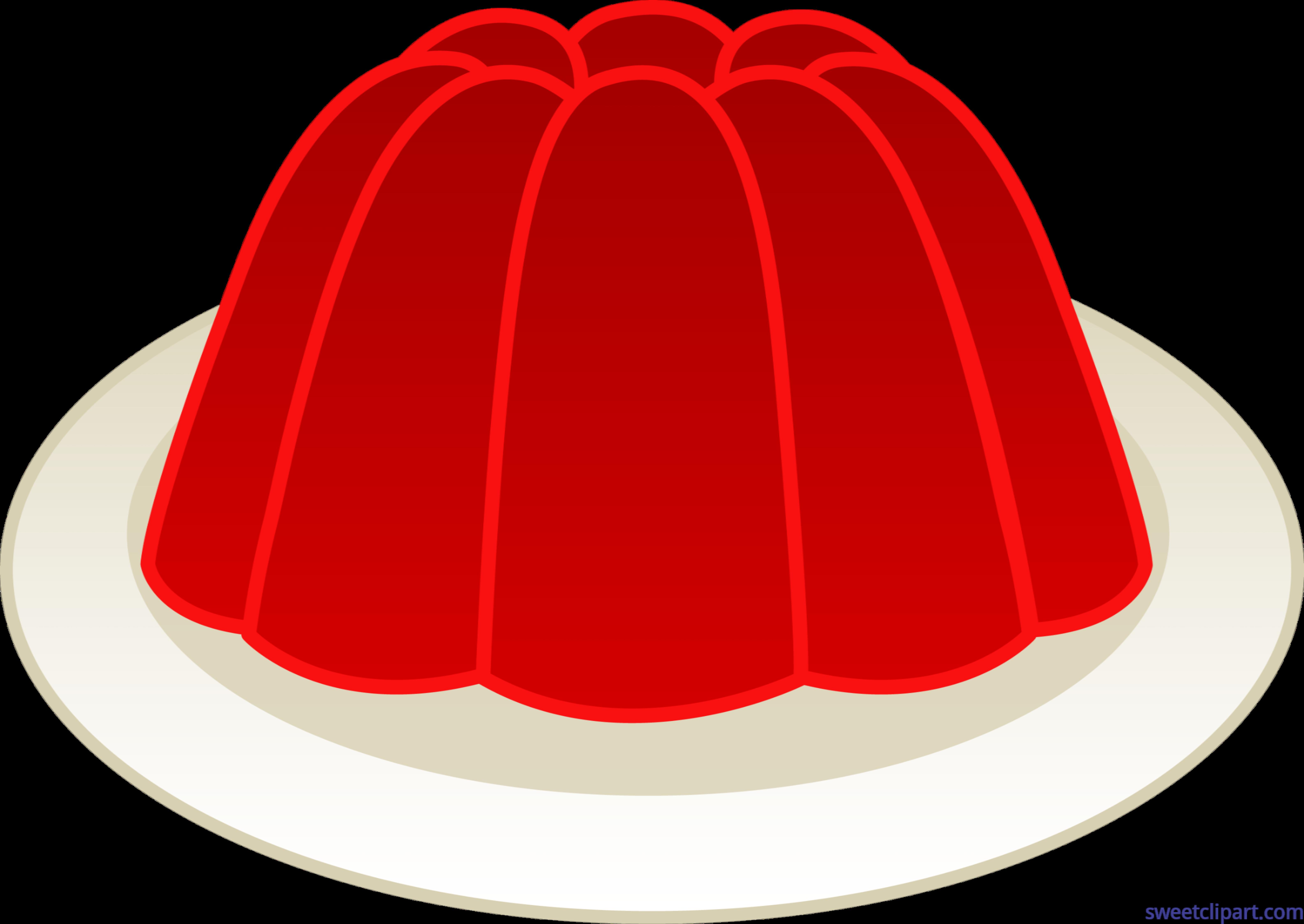 6341x4496 Gelatin Mold Cherry Clip Art