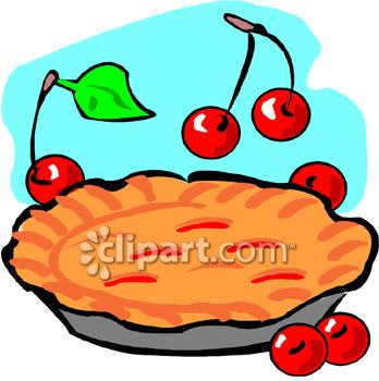348x350 Cherry Pie Clipart Image