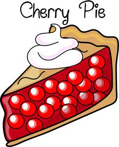 243x300 Dessert Clipart Image Fresh Baked Cherry Pie With Whipped Cream