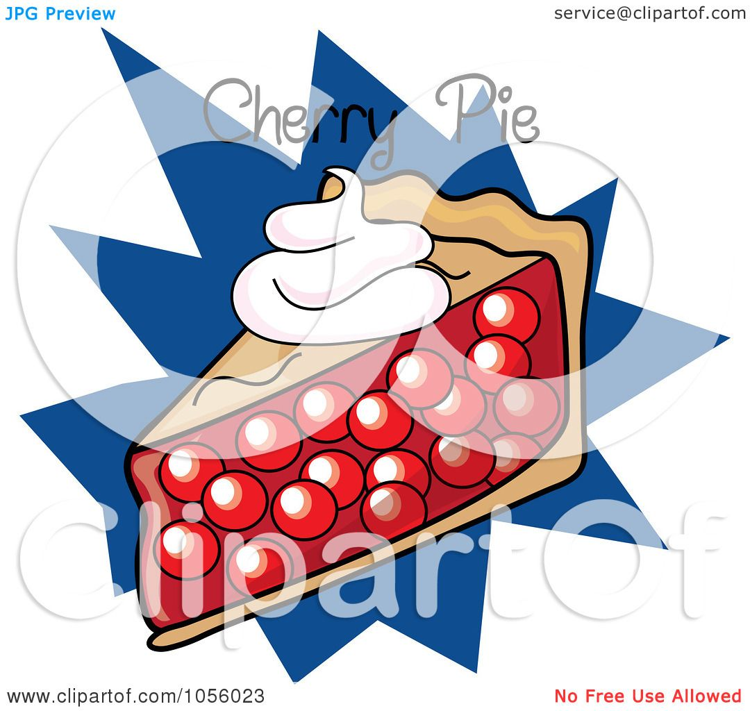 1080x1024 Royalty Free Vector Clip Art Illustration Of A Slice Of Cherry Pie