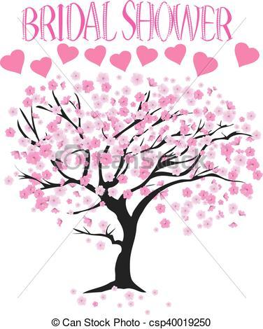 376x470 Tree Cherry. Vector Bridal Shower Cherry Tree Clipart Vector