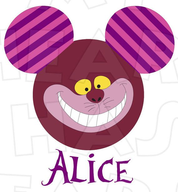 570x615 Cheshire Cat Mickey Mouse Head Digital Iron On Transfer Clip Art