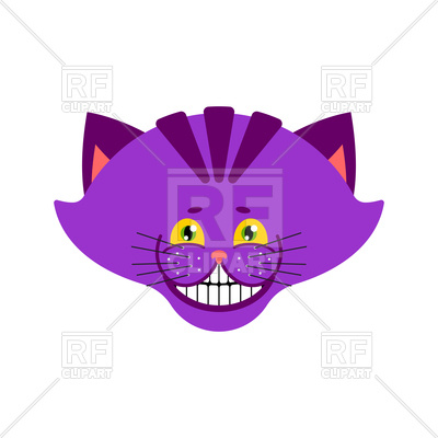 400x400 Cheshire Cat Smile Royalty Free Vector Clip Art Image