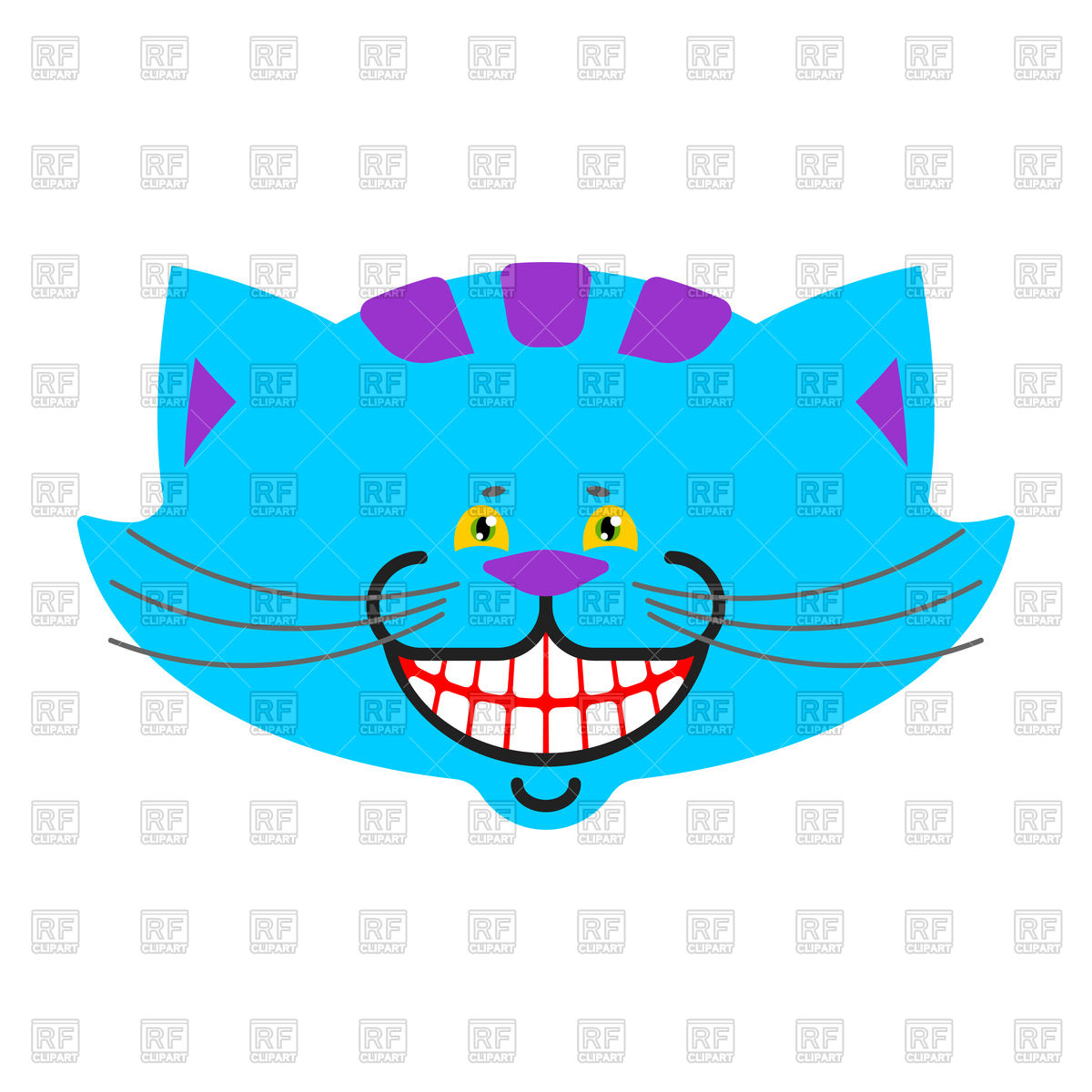 1200x1200 Cheshire Cat Smile Royalty Free Vector Clip Art Image