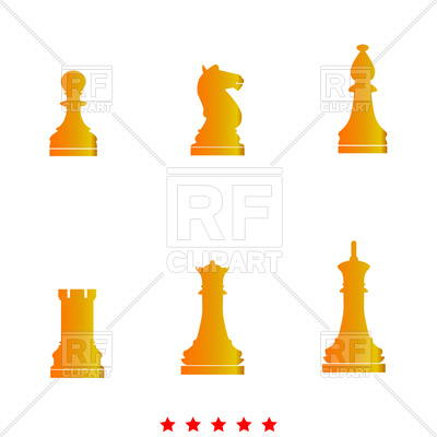 400x400 Chess Pieces Icon Royalty Free Vector Clip Art Image