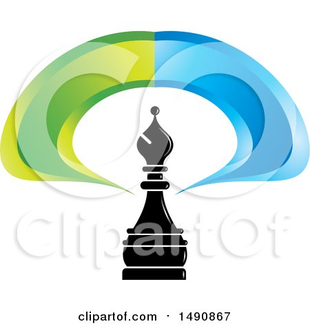 450x470 Clipart Of A Black Bishop Chess Piece