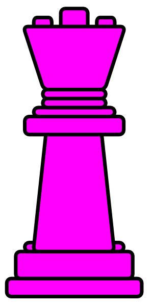 300x600 Pink Chess Queen Clip Art