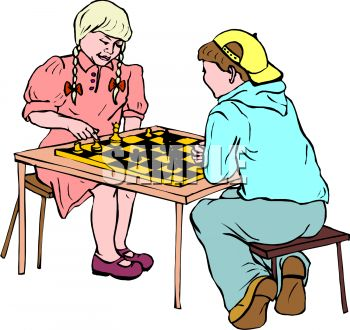 350x330 Royalty Free Clip Art Image Children Playing Chess