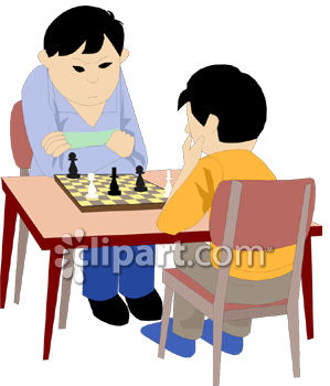 299x350 Asian Boy And His Father Playing Chess