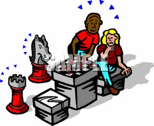300x247 Two People Playing A Game Of Chess
