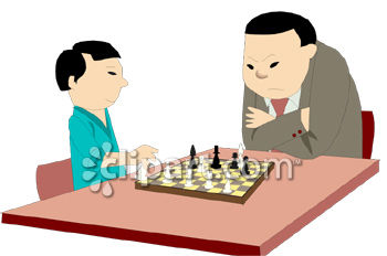350x232 Asian Father Playing Chess With His Son Clipart