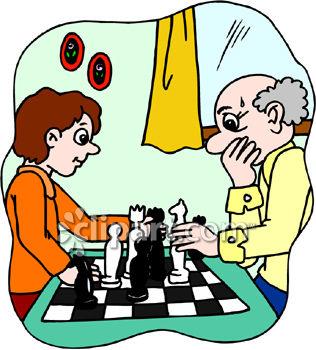 316x350 Boy And His Grandpa Playing Chess