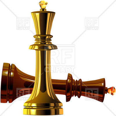 400x400 Chess Kings Of Wood And Gold Royalty Free Vector Clip Art Image